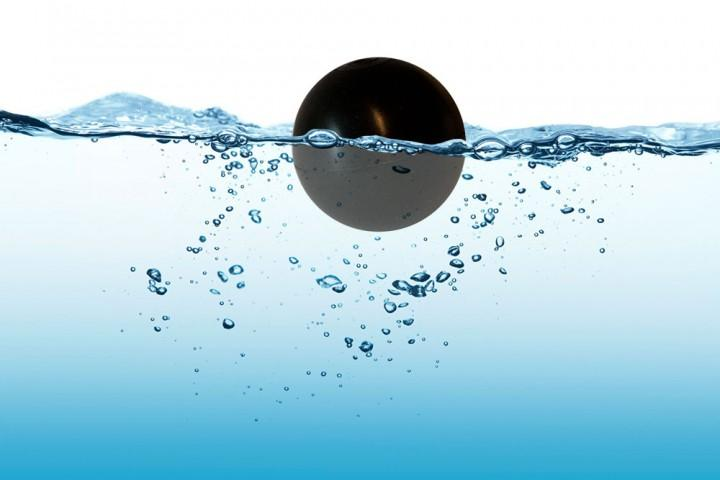 HDPE water shading balls - Floating balls with a hollow core.