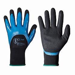 Strickhandschuh mit doppeltem Nitril - BLUE STAR 2
