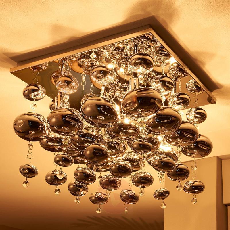 Ceiling light Esfera hung with glass balls - indoor-lighting