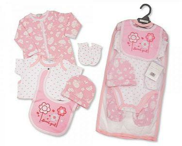 Baby Girls 5 Pieces Layette Gift Set - Sweet Girl -