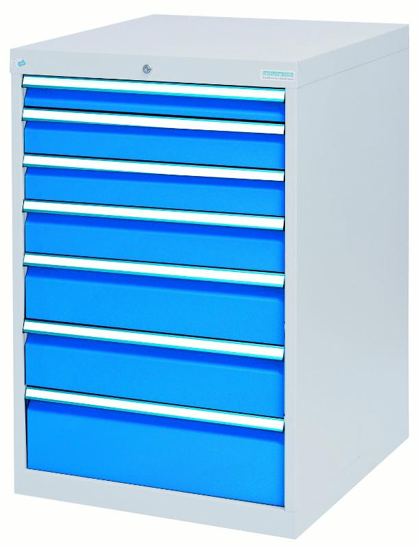 Drawer cabinet with 7 drawers, different front heights - 700/1321V10A