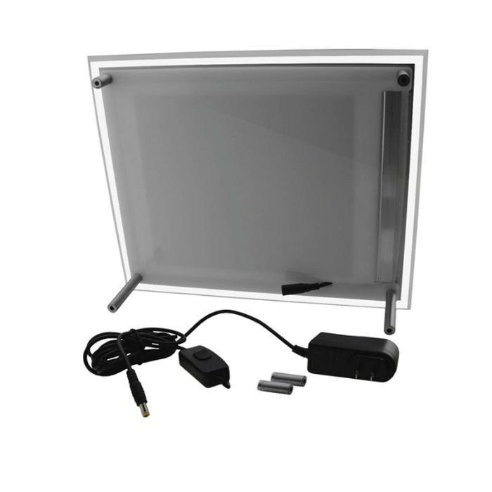 Plexi plakatholder med led-lys - LED Backit Akryl Lightbox