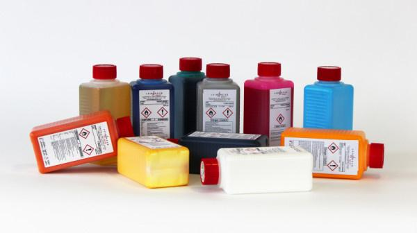 Inks for industrial inkjet printers