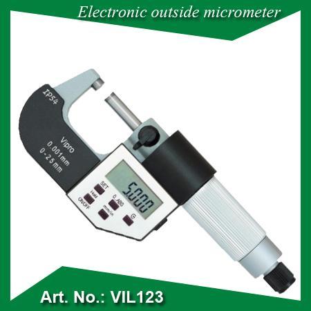 """Micromètre électronique externe - IP 65 poussière / imperméable 5 boutons Résolution: 0.001 / 0.0005 """""""