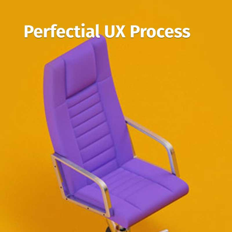 Perfectial's UX process - Storytelling • Web design • 3D Graphics • Illustrations