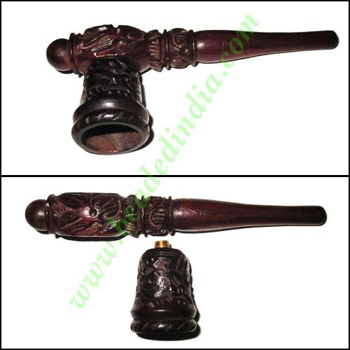 Handmade rosewood smoking pipe, size : 5.5 inch pipe - Handmade rosewood smoking pipe, size : 5.5 inch pipe