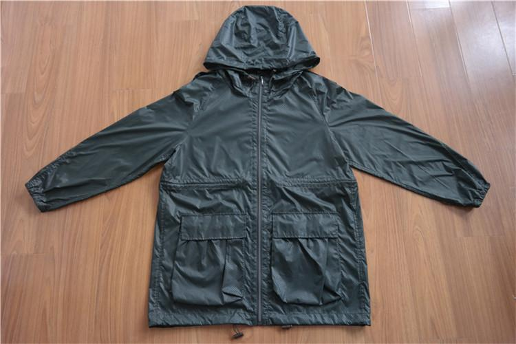 Women's hooded wind coat with long sleeves for spring and fall YH16-17-WC - YH16-17-WC