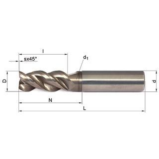 Vollhartmetallfräser VHM 309-03 AL05 - null