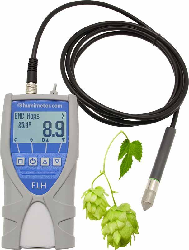 Hops moisture meter humimeter FLH  - with exchangeable external sensors for a wide range of applications