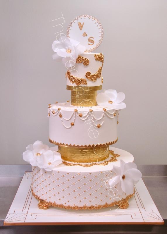 Gâteaux et Pièces Montées sur-mesure - Pièce Montée Gatsby et Or