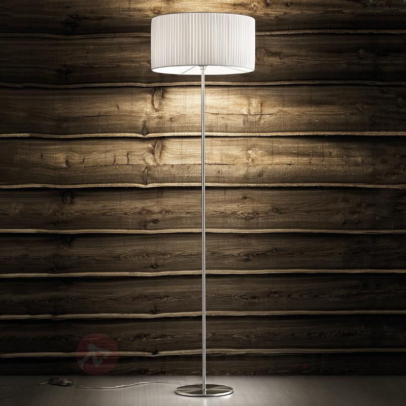 Grand lampadaire Fog Plissé - Lampadaires en tissu