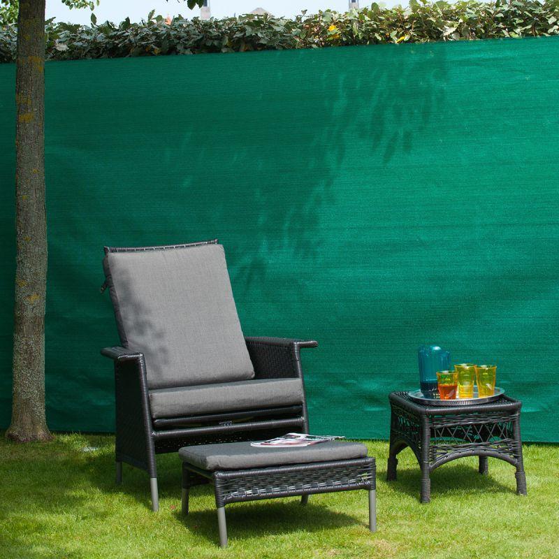 Canisse synthétique - Natte brise-vue verte rouleau 25m