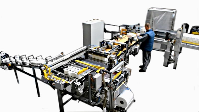 Packaging system for paper toilet -