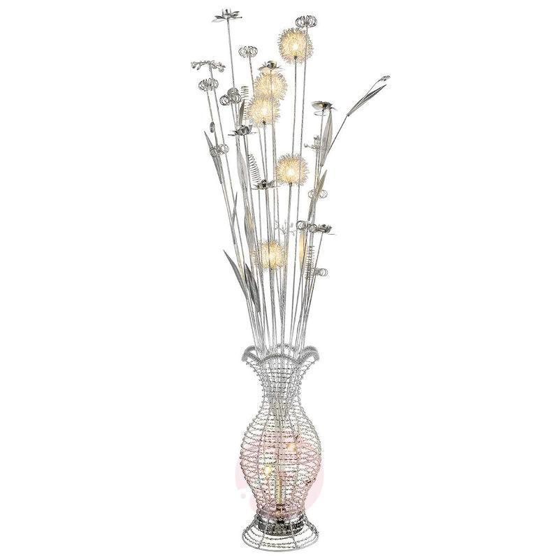 LED floor lamp Laena with a floral design - Floor Lamps
