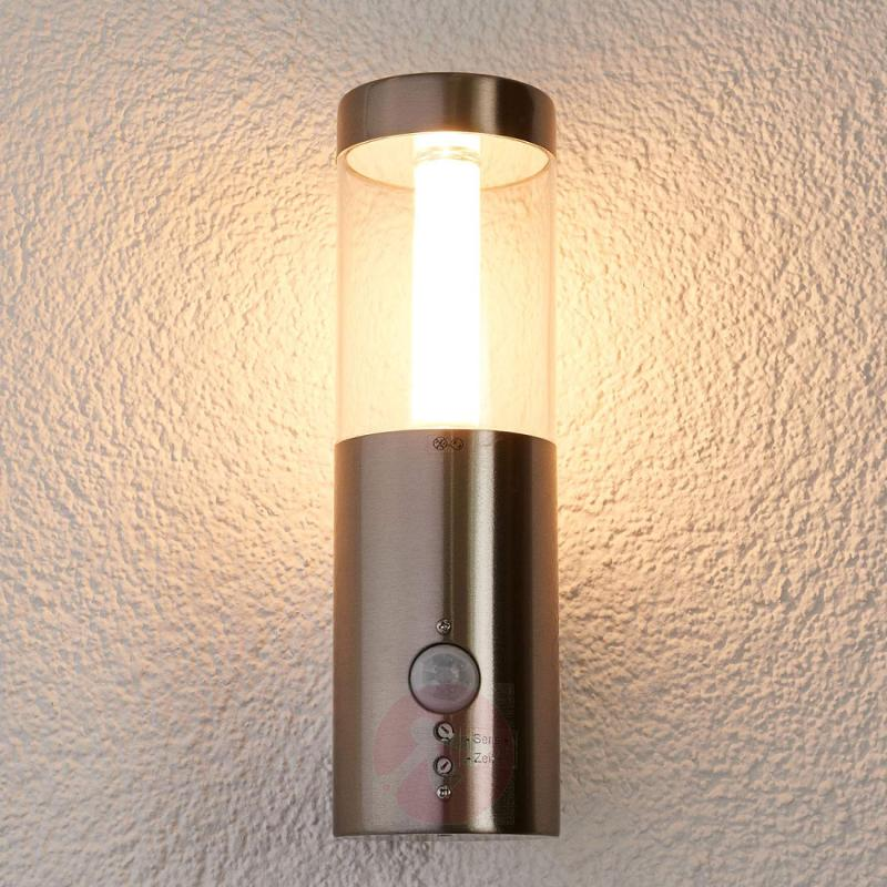 Motion detector -LED outdoor wall lamp Ellie - stainless-steel-outdoor-wall-lights