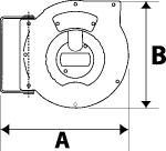 Hose reel, PU hose 12x8, G 1/4, Hose length 12 m - Hose reel - standard type