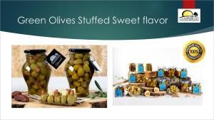 Aceitunas Verdes Dulces - Aceitunas Verdes Dulces Rellenas de Frutas y Frutos Secos