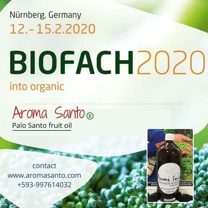 #biofach2020 Nuremberg, Alemania - Aroma Santo, Aceite de los frutos de Palo Santo