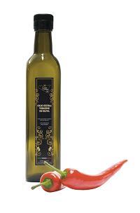 Olio extra vergine di oliva di sicilia - Olio extra vergine di oliva aromatizzato con Peperoncino