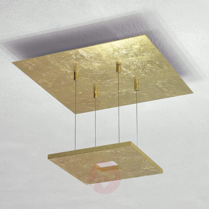 Gold leaf ceiling light Zen with LED - Ceiling Lights