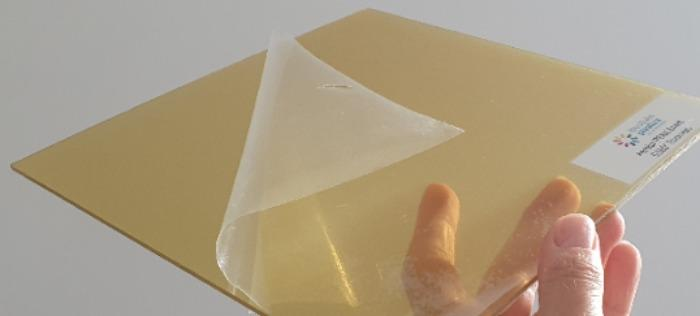 Arolux PEKK: Thermoformable amorphous ketone thin sheets - First amorphous thermoformable ketone material into semi-crystalline shapes