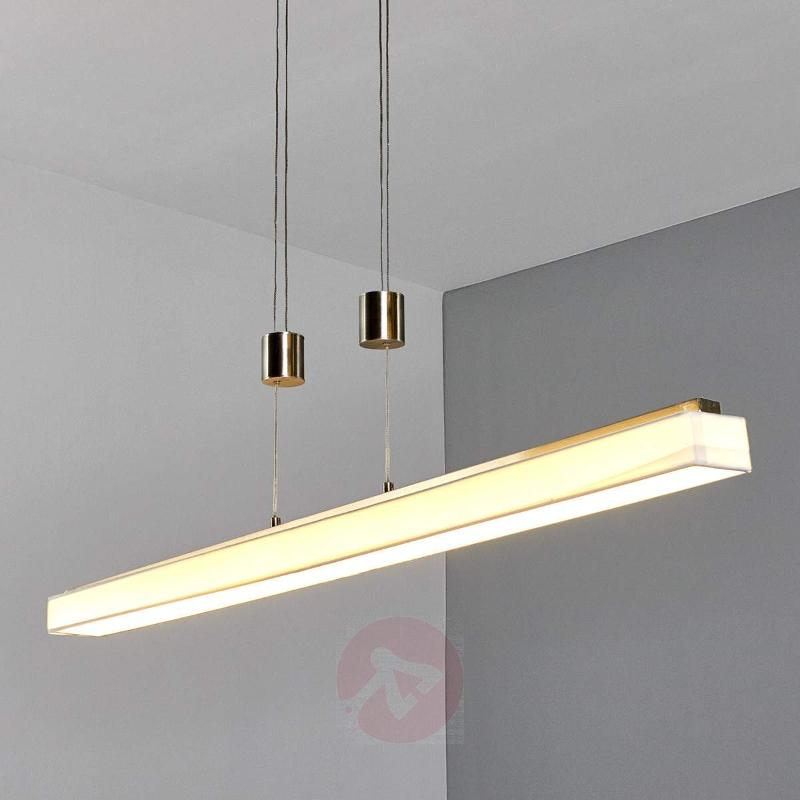 Elongated LED hanging lamp Taynara - Pendant Lighting