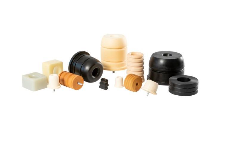 Elastomerfedern zellig - Zusatzfedern, Achsfedern und Notfedern in Maschinen- und Fahrzeugtechnik
