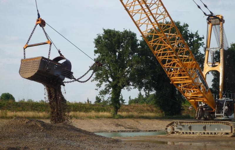 Benna dragline - Settore escavazione