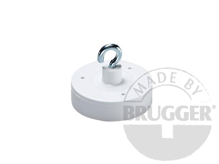 Decoration magnet, hard ferrite, white - null