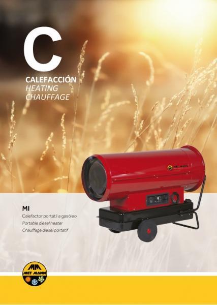 Calefacción portátil a gasóleo para espacios abiertos de 38  - Calefacción portátil a gasóleo para espacios abiertos de 38 a 111 kW - MI