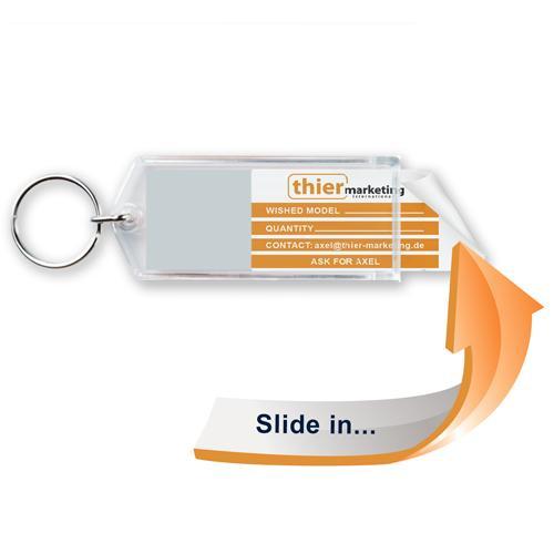 Schlüsselanhänger für die Autovermietungsbranche - Slide in G1