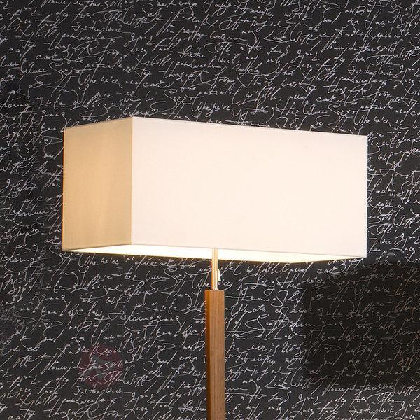Lampadaire textile blanc Casta - Lampadaires en tissu