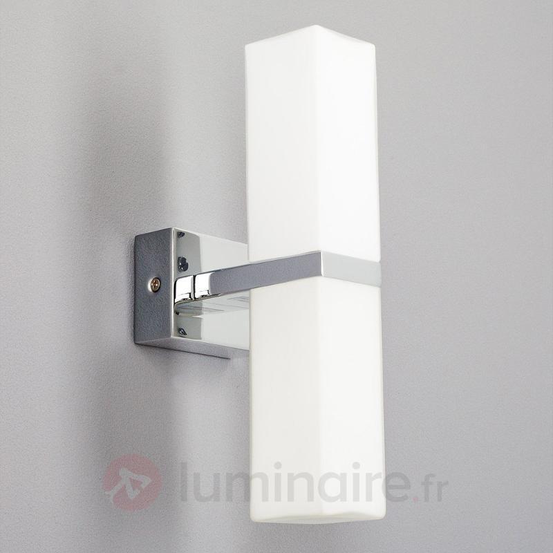 Applique pour salle de bain Berne verre et métal - Salle de bains et miroirs