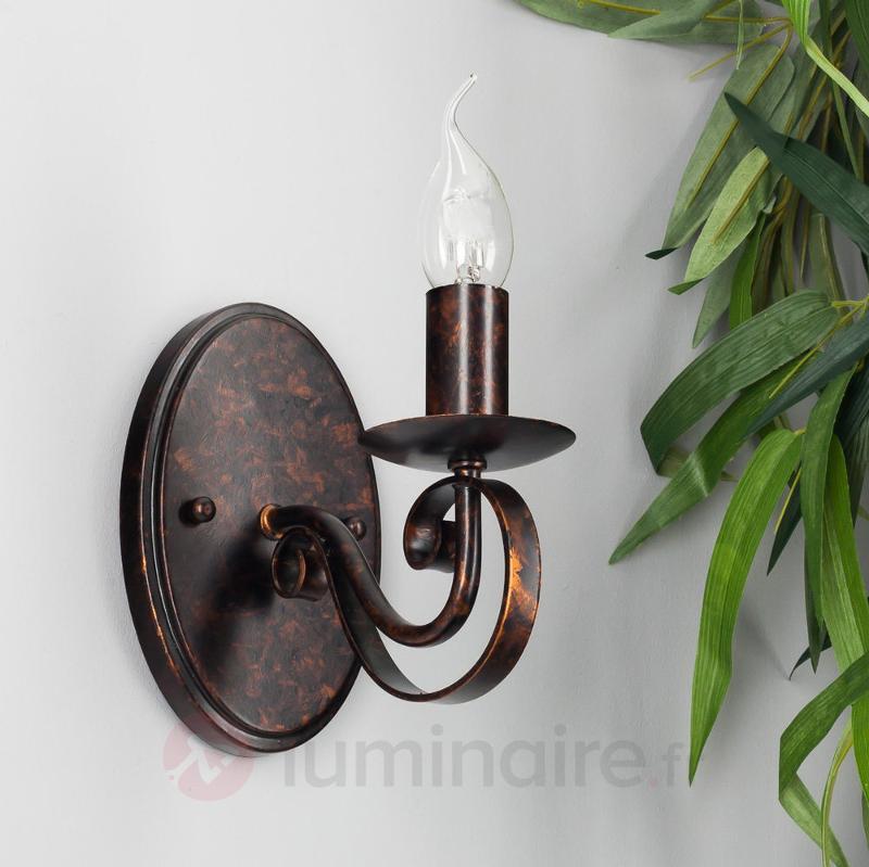 Caleb - applique style champêtre, aspect rouille - Appliques rustiques