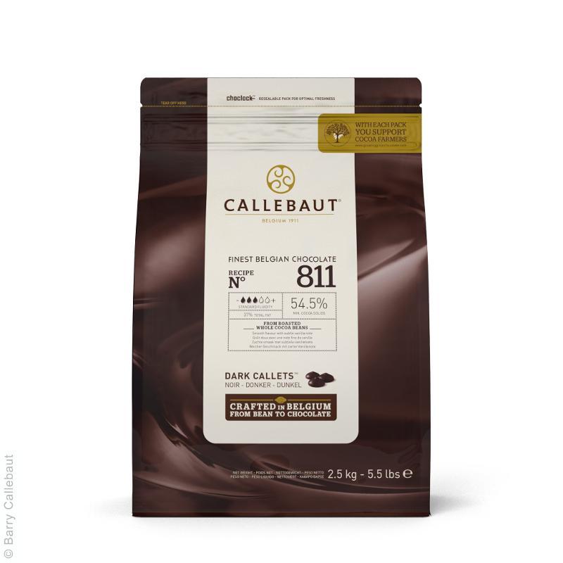 Cioccolato Extra Fondente di Copertura Pastiglie 54,5% 2,5kg - Alimentare - Cioccolato e caramelle