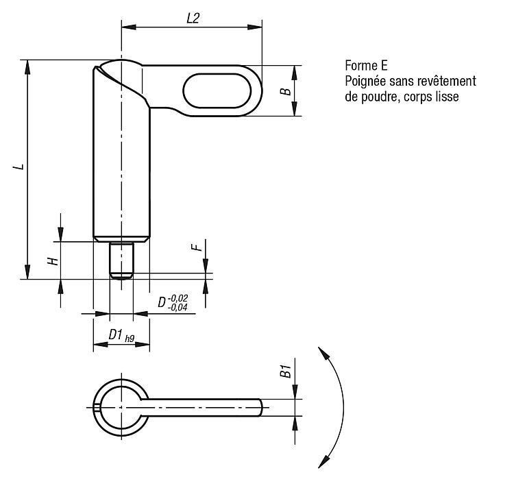 Doigt d'indexage verrouillable en Inox - Doigt d'indexage à corps lisse