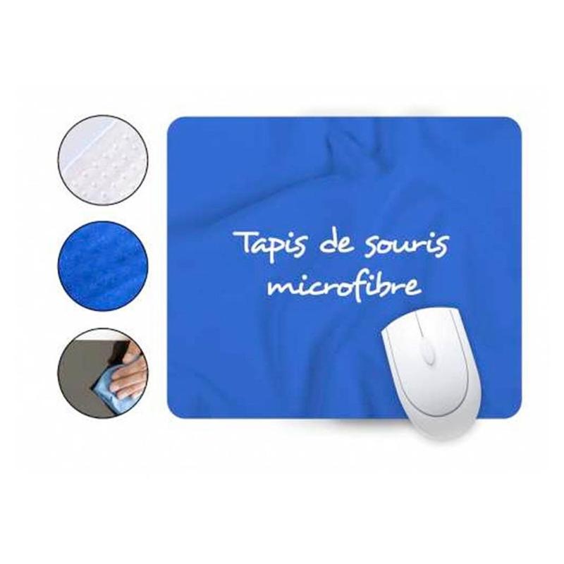 Tapis de souris microfibre - Tapis de souris publicitaires