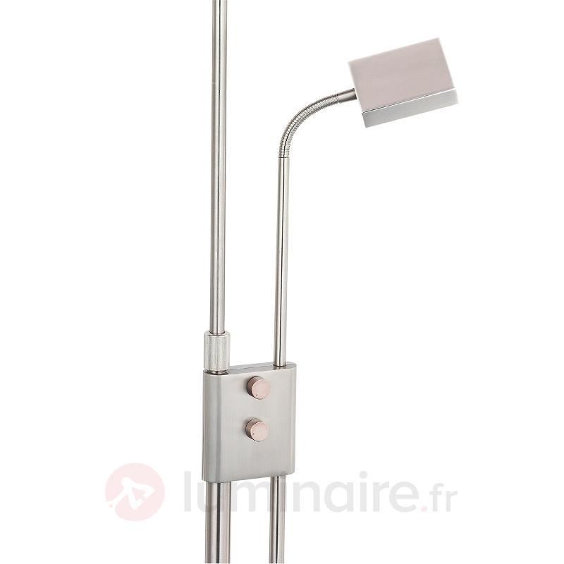 Lampadaire carré LED Sunniva avec liseuse - Lampadaires LED à éclairage indirect
