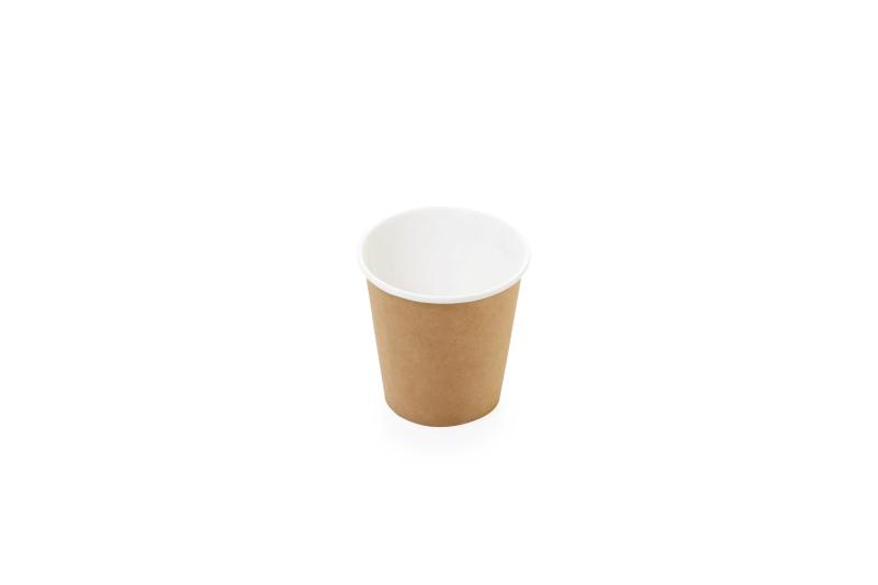 "Two layer ""Kraft"" cups for hot beverages - Kraft cups for coffee, tea and hot chocolate"