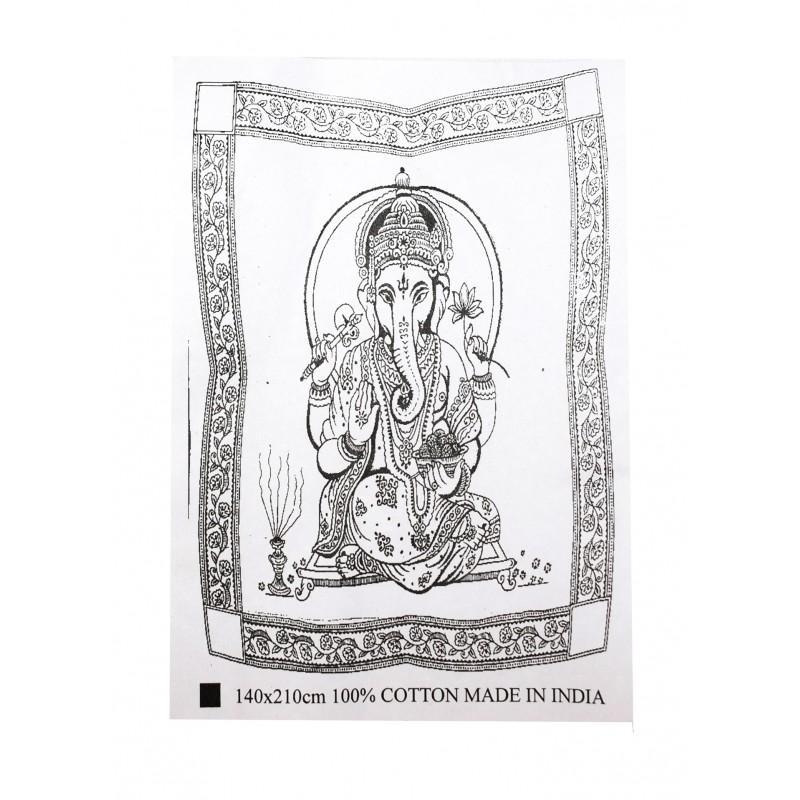 Cubrecama Ganesha (140x210 Cm) 100% Algodón (precio Por Unidad) - Cubre camas, tapices y pareos