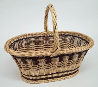 "Panier ovale osier blanc - ""crocane"""