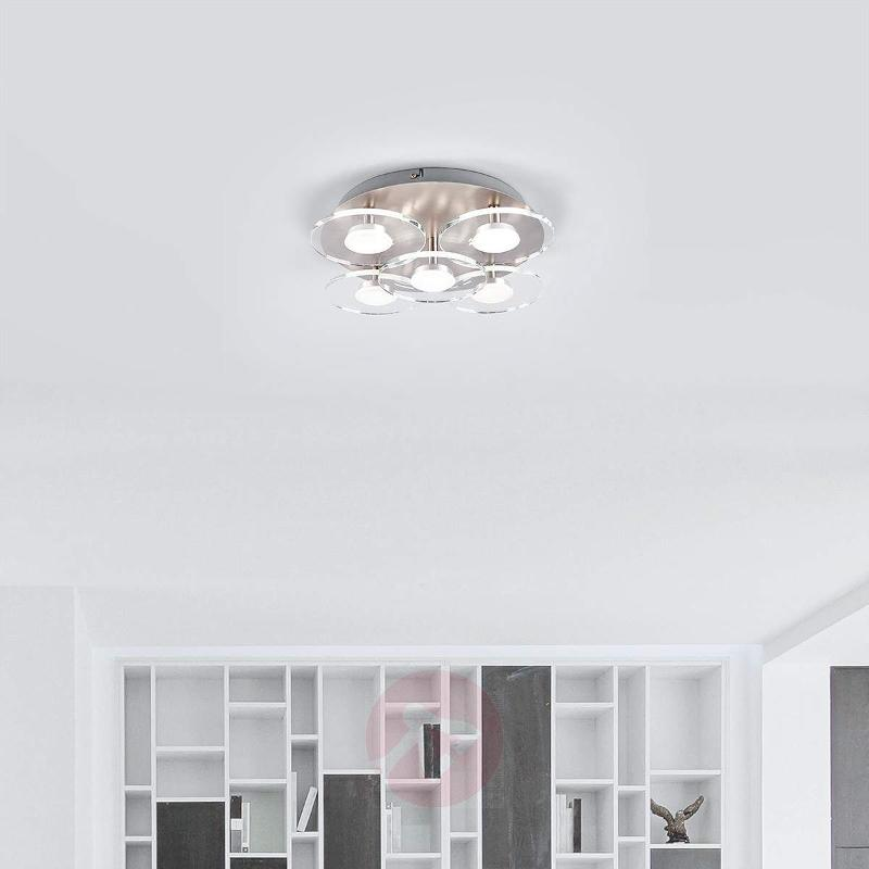 5-light LED ceiling light Tiam - Ceiling Lights