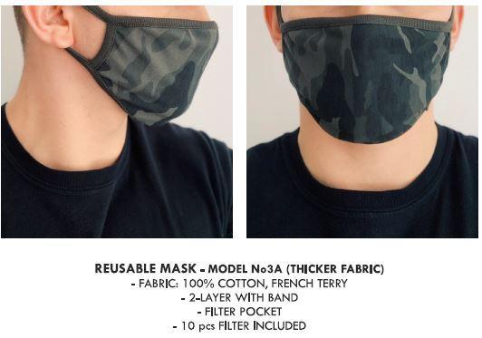 Wiederverwendbare Masken - Unisex Wiederverwendbar Mundschutz, Kälteschutz Gesichtsmaske, Unisex Wiederverw