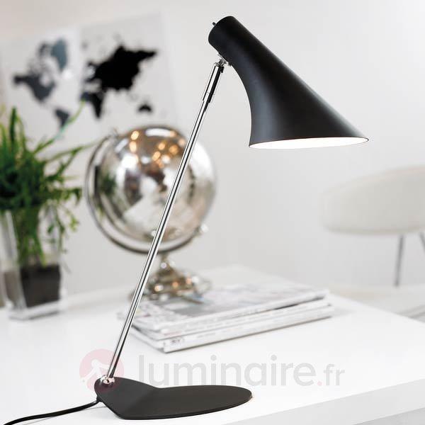 Lampe de bureau tendance VANILLIA, noire - Lampes de bureau