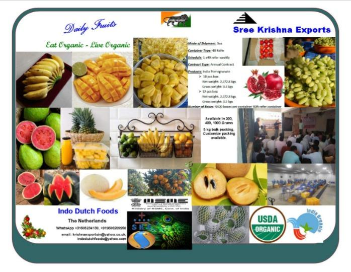 Fresh vegetables and fruits  - Fruits