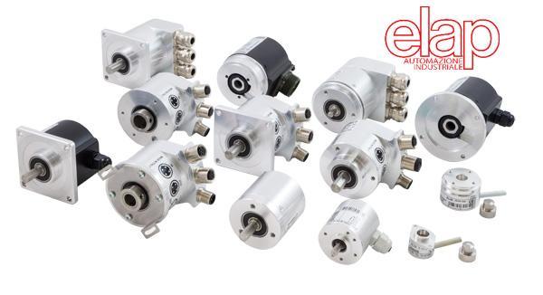 Encoder incrementali rotativi - ottici e magnetici, da 2 a 50000 impulsi/giro