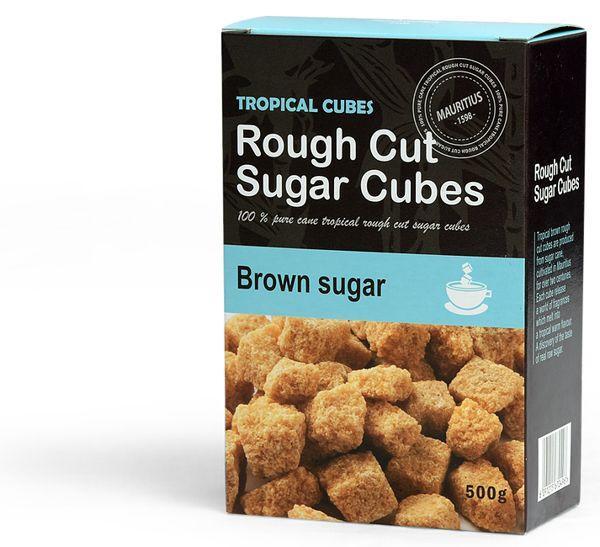 Emballage de sucres en morceaux - Brown Sugar - Emballage en marque blanche