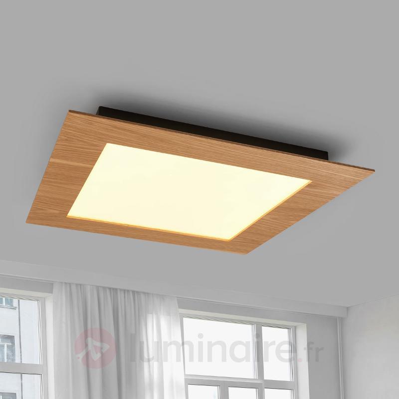 Panneau LED naturel Deno en bois