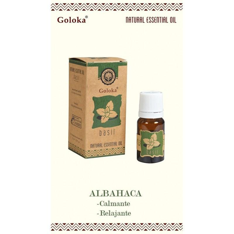 Aceite Esencial Aromaterapia Natural Albahaca Goloka 10ml - Aceites Goloka