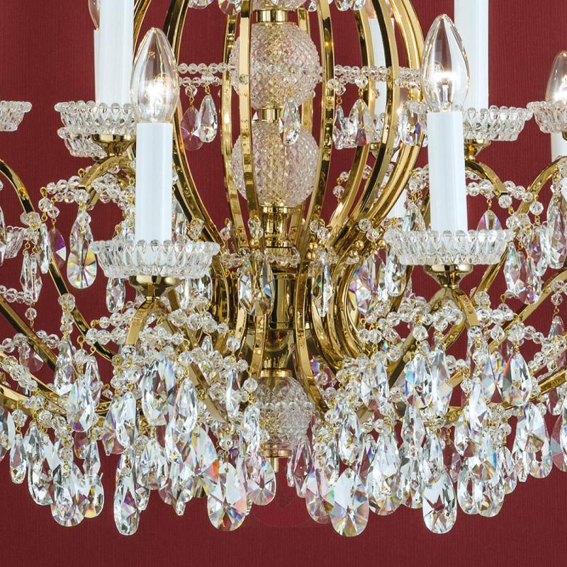 Chandelier Hirohito, gold-plated, 18-light - design-hotel-lighting